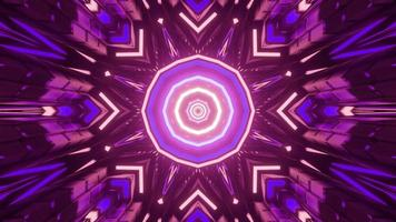 ilustração 3D do fundo geométrico do caleidoscópio radiante