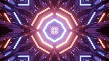 padrão geométrico brilhante com reflexos de luz ilustração 3D foto