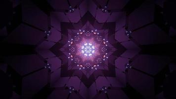 luz de néon piscando fundo geométrico ilustração 3d