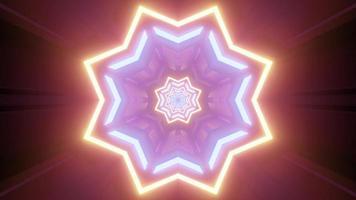 Ilustração 3d brilhante em forma de estrela de néon