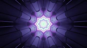 padrão geométrico circular com estrela brilhante ilustração 3D