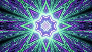 fundo abstrato com ornamento em forma de estrela de néon ilustração 3d