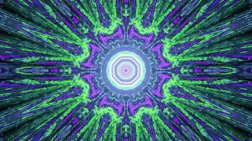 Ilustração 3D do ornamento abstrato do fractal como pano de fundo