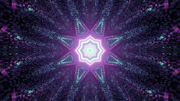 Ilustração 3D do padrão de caleidoscópio colorido criativo