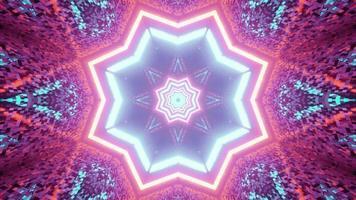 padrão em forma de estrela com reflexão de luz ilustração 3D