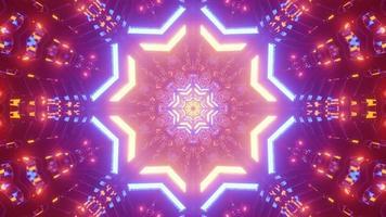 Ilustração 3D de túnel em forma de estrela