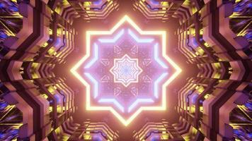 ilustração em 3D surreal estrela em forma de ornamento