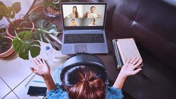 videochamada com a família