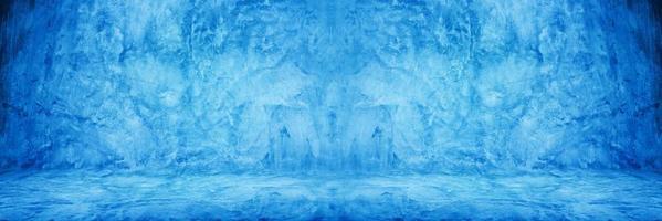 cimento azul ou parede de concreto para plano de fundo ou textura foto