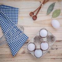 ovos e pano xadrez