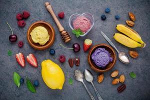 sorvete fresco colorido
