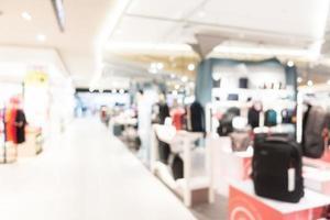 interior abstrato desfocado de shopping foto