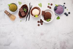 borda de sorvete com espaço de cópia