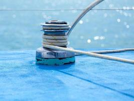 guincho de veleiro e corda