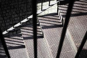 escada industrial externa