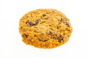 biscoito de aveia e biscoito no fundo branco