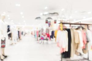 interior abstrato desfocado de shopping para o fundo foto