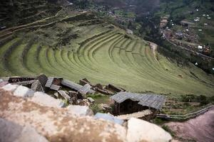 terraços agrícolas em pisac, peru