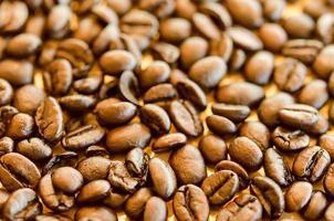 grupo de grãos de café foto