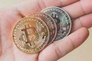 moedas bitcoin, conceito de moeda digital