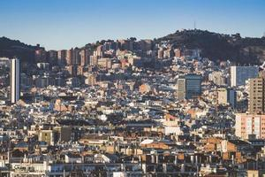 vista da cidade dos edifícios de barcelona