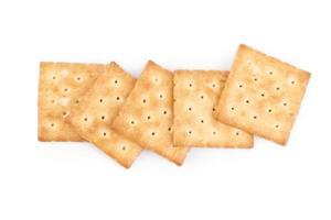 biscoitos quadrados isolados em um fundo branco