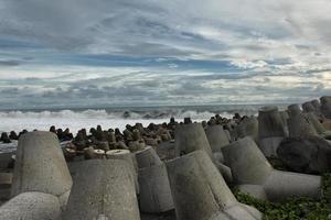 paisagem da praia de ilha tropical paradisíaca foto