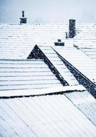 neve nos telhados foto