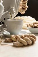 bagels e chá quente