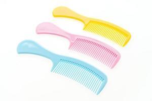 pente de cabelo de plástico