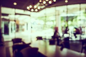interior desfocado abstrato da cafetaria para o fundo foto
