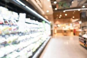 interior desfocado abstrato do supermercado para o fundo foto