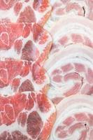 carne de porco crua foto
