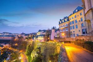 horizonte da cidade velha de luxemburgo vista de cima
