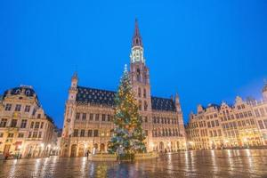 o grande lugar na cidade velha de bruxelas, bélgica foto