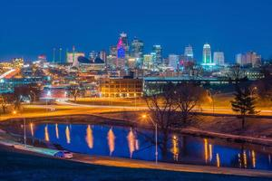 vista do horizonte de Kansas City em Missouri