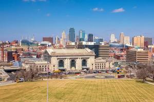 vista do horizonte de Kansas City em Missouri foto