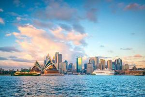 horizonte do centro de sydney na austrália