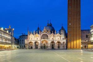 st. Praça do Marco em Veneza durante o nascer do sol