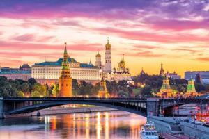 Moscou Kremlin na Rússia