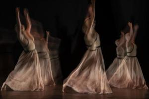 o movimento abstrato da dança foto