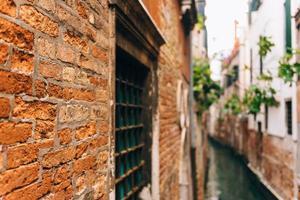 as antigas ruas de veneza da Itália