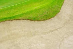 vista superior de um campo de golfe