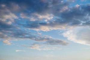 nuvens à noite foto