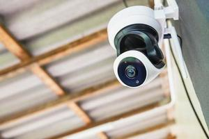 close-up da câmera de segurança