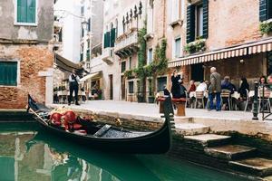 Veneza, Itália 2017 - as antigas ruas de Veneza da Itália