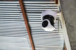 câmera de segurança lá fora
