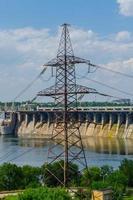 barragem hidrelétrica no rio dnieper foto