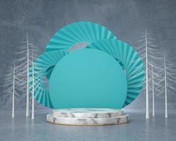 Pódio de pano de fundo abstrato para vitrine de exibição de produto, renderização de fundo 3D foto