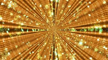 Ilustração 3D do padrão dourado ornamental com raios simétricos